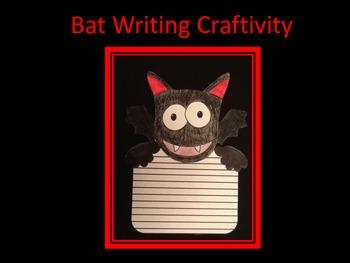 Halloween Bat Writing Craftivity