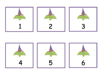 Halloween Bats 1-10 Numbers and Dice