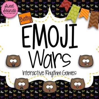 Halloween Bats Emoji Wars Taah Half Note {Interactive Rhythm Game}