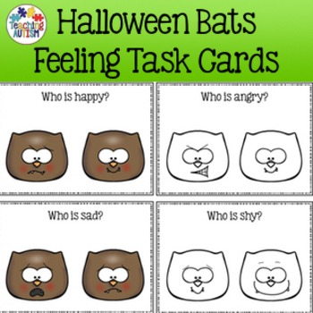 Feelings and Emotions Halloween Task Cards Bats