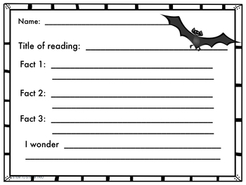 Halloween: Bats Informational Reading and Make a Bat STEM Challenge