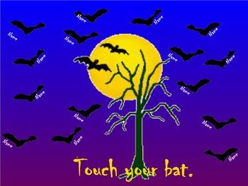 Halloween Bats Smart Board Attendance