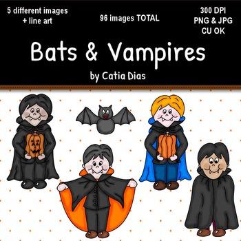 Halloween - Bats & Vampires Clip Art