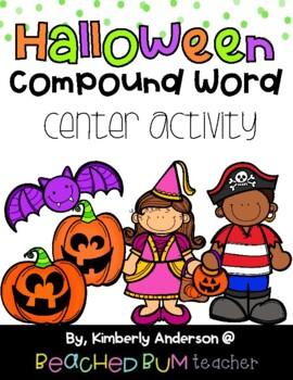 Halloween: Bats and Jack-o-Lantern Compound Word Match