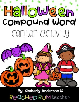 Halloween: Bats and Jack-o-Lantern Compound Word Match