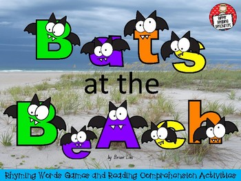 """Bats at the Beach"" Rhyming words games and more!"