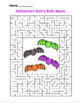 Halloween Batty Bats Maze!  Halloween Maze FUN! (Color and Black Line)