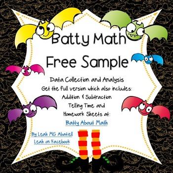 Halloween Math: Free Sample of Batty About Math