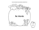 Halloween Be Words using Clip Art