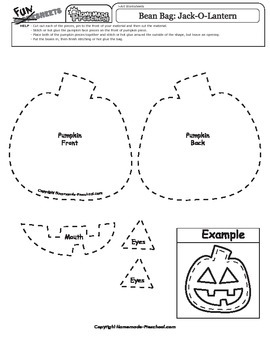 Halloween Bean Bag Pattern: Jack-o-Lantern