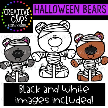 Halloween Bears: Halloween Clipart {Creative Clips Clipart}