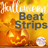 Music Halloween Beat Strips & Composition Cards