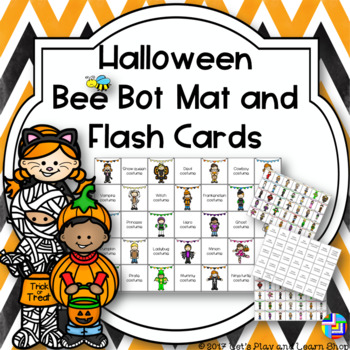 Halloween Bee Bot Mat and Flash Cards