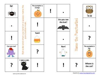 Halloween Beginning Punctuation Game