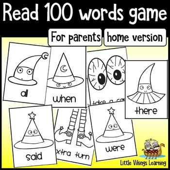 Halloween Beginning Reading Game - PARENT edition