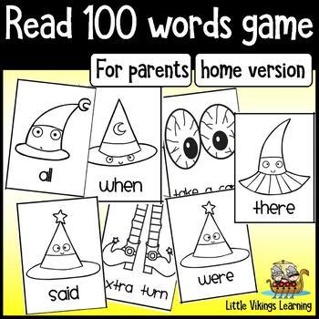 Halloween Beginning Reading Game - PARENT edition