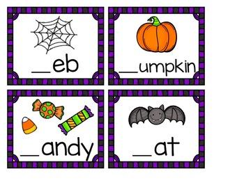 Halloween Beginning Sound Cards +Recording Sheet!