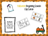 Halloween Beginning Sound Clip Cards