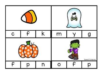 Halloween Beginning Sound Clip Cards