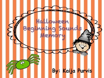 Halloween Beginning Sound Game
