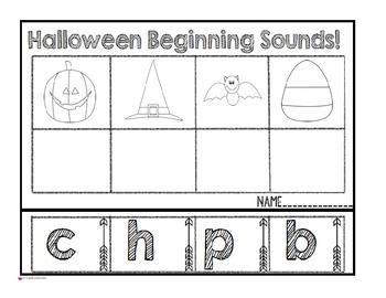 Halloween Beginning Sound Match