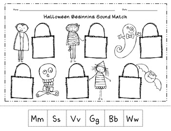 Halloween Printouts from The Teacher's Guide