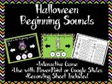 Halloween Beginning Sounds Game