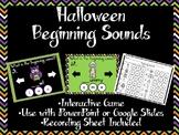Halloween Beginning Sounds Game