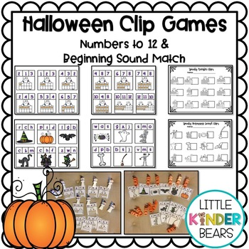Halloween Beginning Sounds & Numbers to 12
