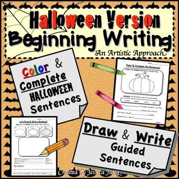 Halloween Writing: Draw and Write Sentences