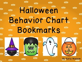 Halloween Behavior Chart Bookmarks