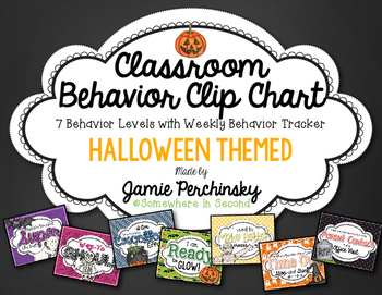 Halloween Behavior Clip Chart Set