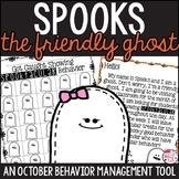 Halloween Behavior Management Tool: Spooks the Ghost