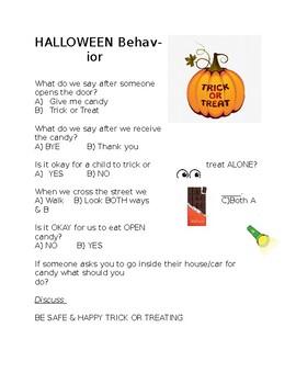 Halloween Behavior Quiz