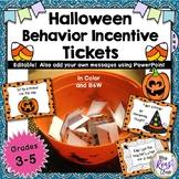 Halloween Behavior Incentive Tickets Keep Learners Engaged