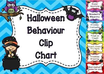 Halloween Behaviour Clip Chart