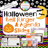 Halloween Bell Ringer & Daily Agenda Slide Templates
