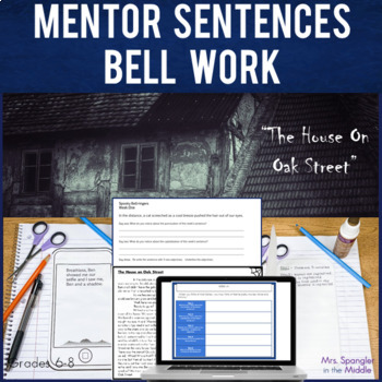 Bell Ringers for Middle School: Text-Based Spooky Mentor Sentences
