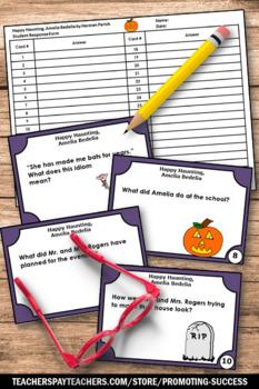 Halloween Literacy Book Happy Haunting, Amelia Bedelia Task Cards Games