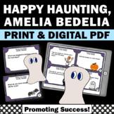 Happy Haunting, Amelia Bedelia, Halloween Reading Activities with Task Cards