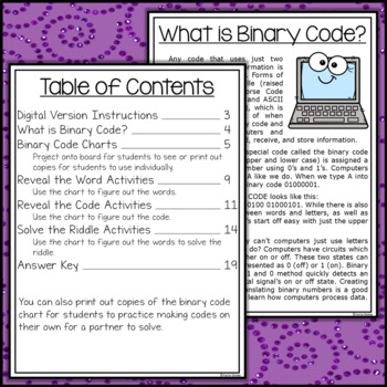 Halloween Binary Code STEM Activities