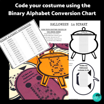 Halloween Binary Coding Unplugged