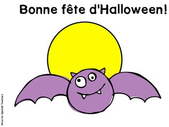 Halloween Bingo in French