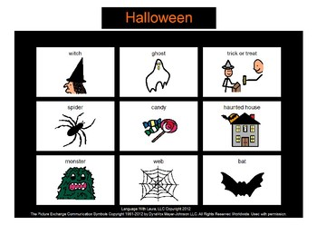 Halloween Bingo! [speech therapy and autism]