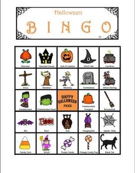 Halloween Bingo! (36 BINGO BOARDS)