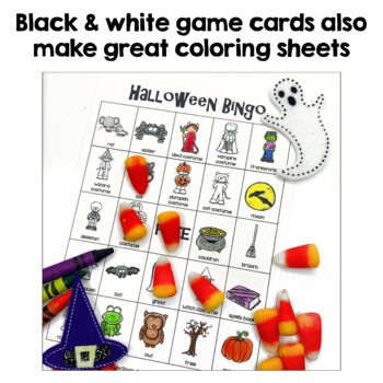 Halloween Bingo - 36 Unique Game Cards in Color and Black and White