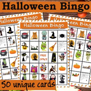 Halloween Bingo - 36 unique cards