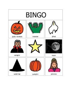 Halloween Bingo (9 squares)