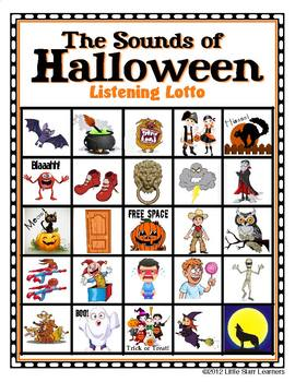 Halloween Bingo AND Halloween Sound Effects by Teresa Starr | TpT