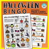 Halloween Bingo Activity with bonus Rewards Cards